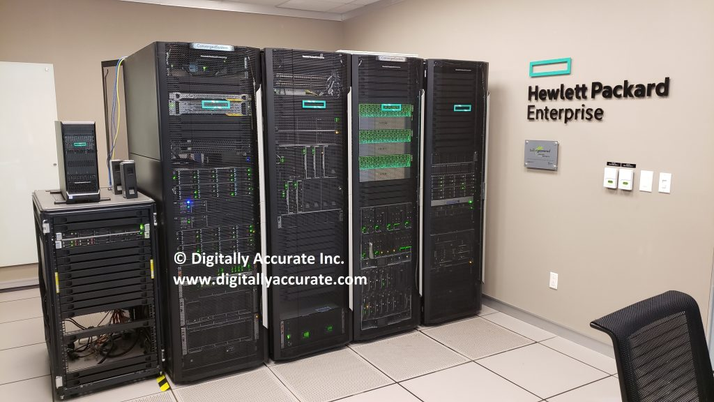 HPe Center of Excellence Datacenter at HPe HQ Toronto, Ontario