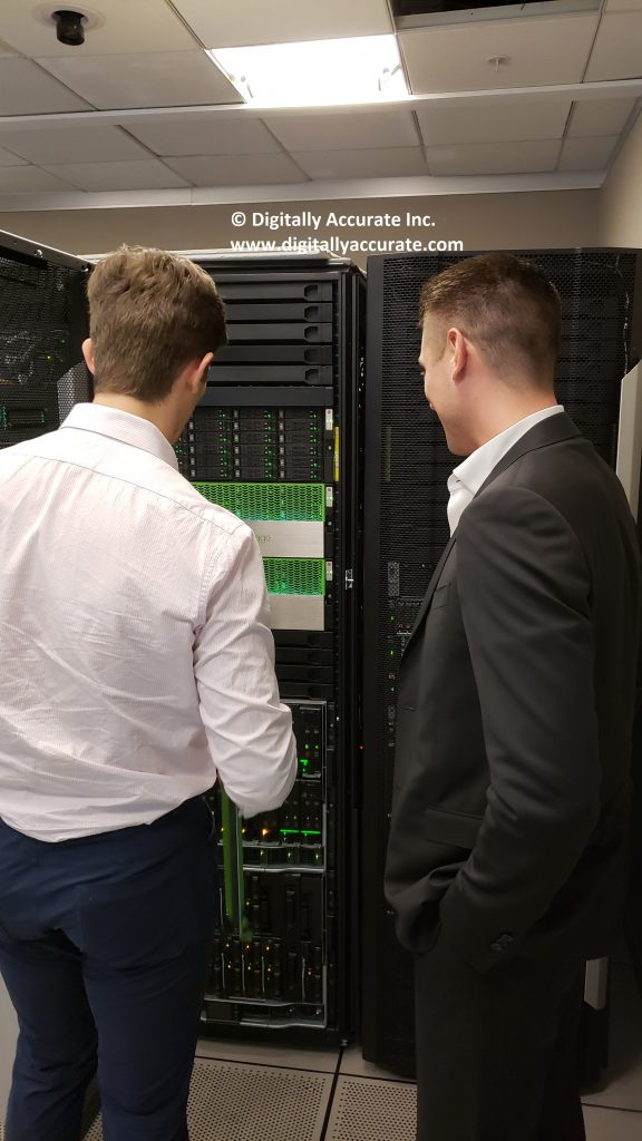 Stephen Wagner at Digitally Accurate Inc. visits HPe CCoE Data center