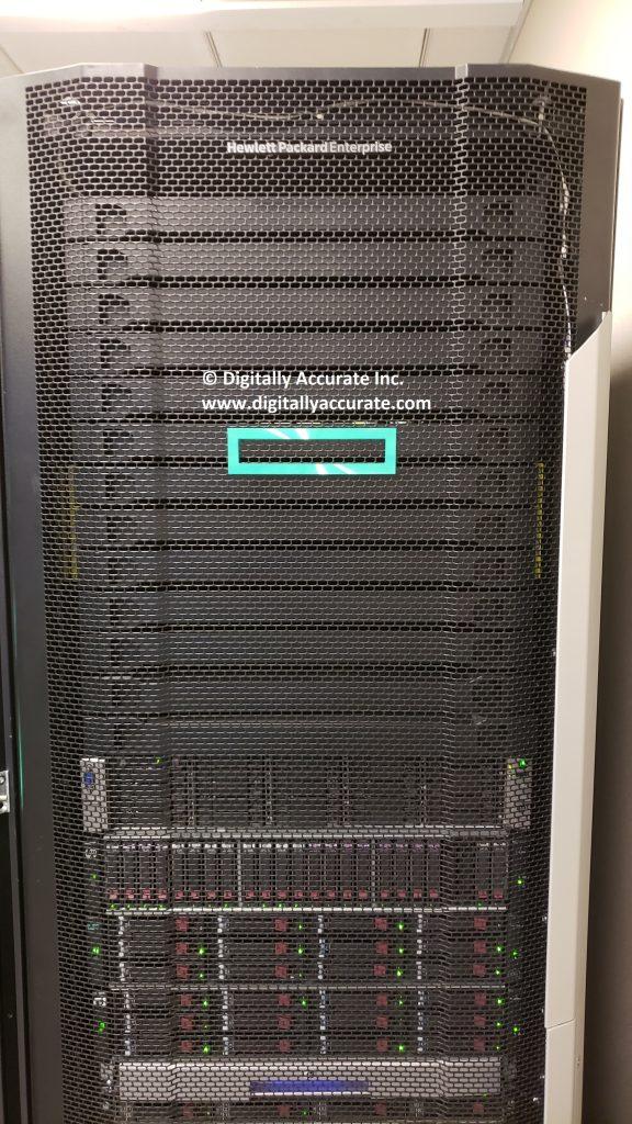 HPe Rack at HPe CCoE Data center